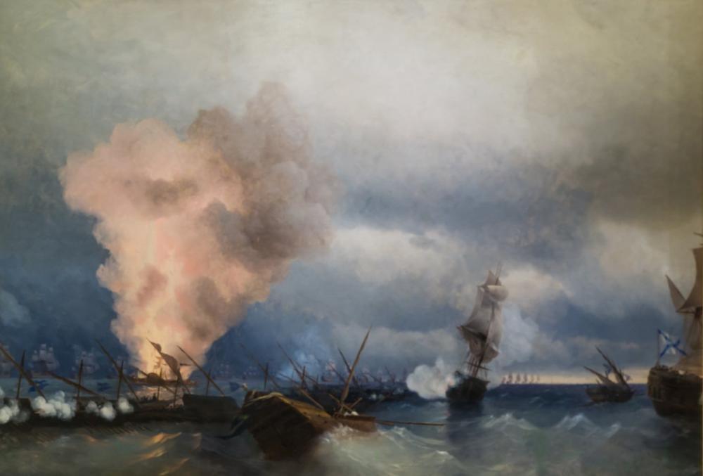 Ivan Aivazovsky Sea battle Near Vyborg, Canvas, Ivan Aivazovsky, kanvas tablo, canvas print sales