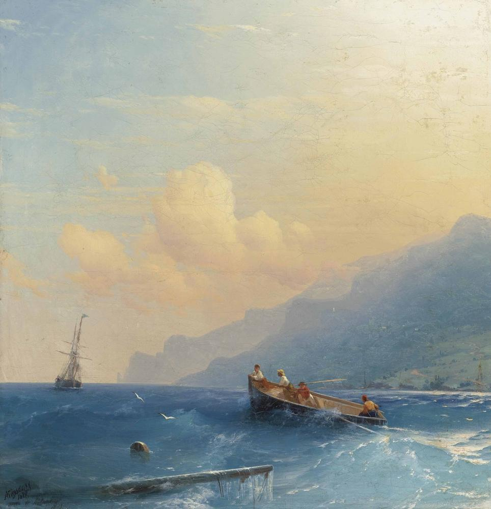Ivan Aivazovsky Searching For Survivors, Canvas, Ivan Aivazovsky, kanvas tablo, canvas print sales