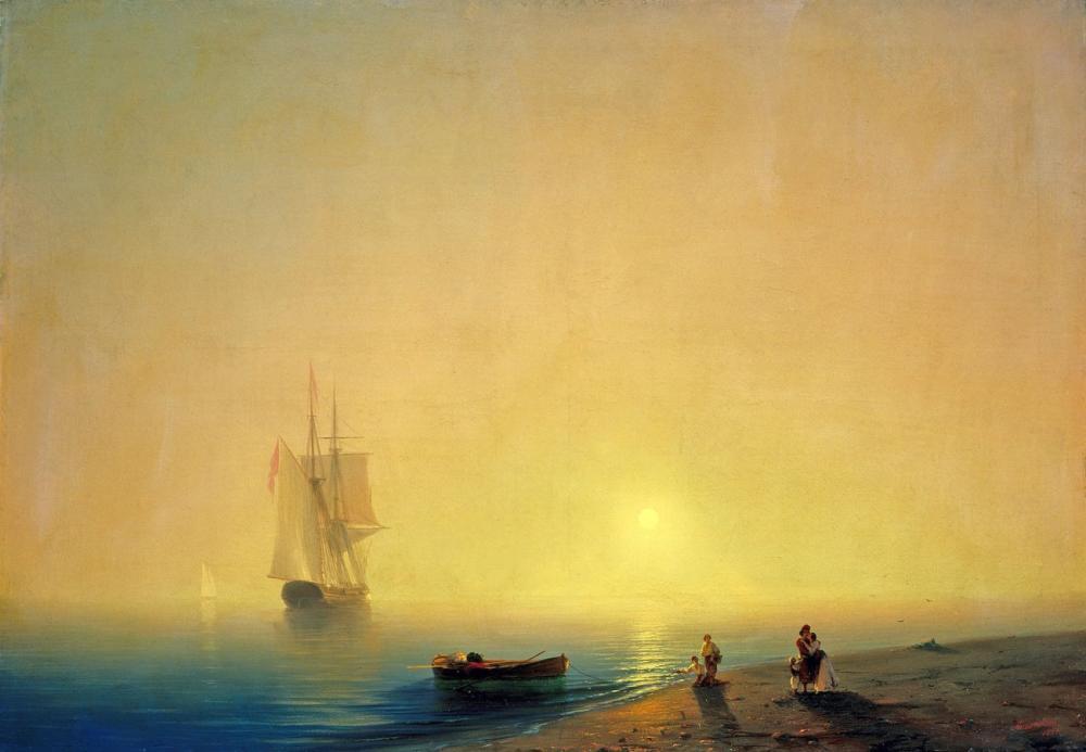 Ivan Aivazovsky Sea Shore, Canvas, Ivan Aivazovsky, kanvas tablo, canvas print sales