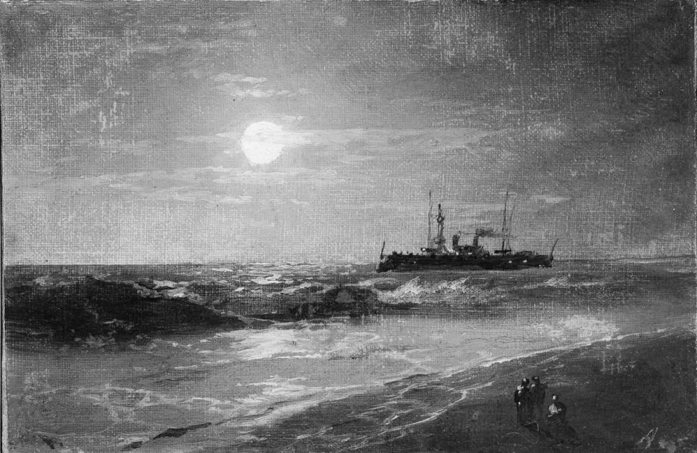Ivan Aivazovsky Mehtap İle Gemi, Kanvas Tablo, Ivan Aivazovsky, kanvas tablo, canvas print sales
