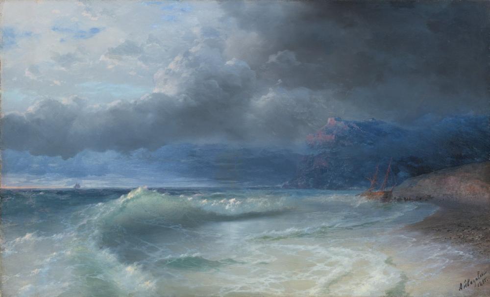 Ivan Aivazovsky Batık Fırtınalı Bir Sabah, Kanvas Tablo, Ivan Aivazovsky, kanvas tablo, canvas print sales