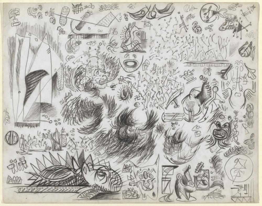 Jackson Pollock Bir Taslak, Kanvas Tablo, Jackson Pollock, kanvas tablo, canvas print sales