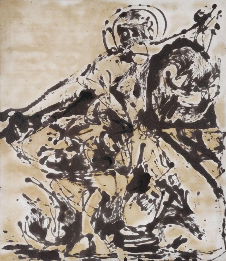 Jackson Pollock Black And White Painting III, Canvas, Jackson Pollock, kanvas tablo, canvas print sales