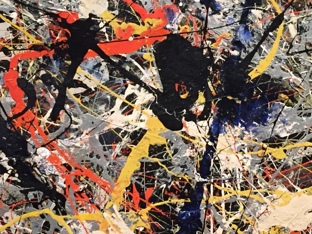 Jackson Pollock Mavi Direkler, Kanvas Tablo, Jackson Pollock, kanvas tablo, canvas print sales