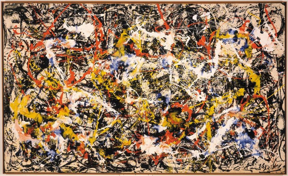 Jackson Pollock Convergence, Canvas, Jackson Pollock, kanvas tablo, canvas print sales