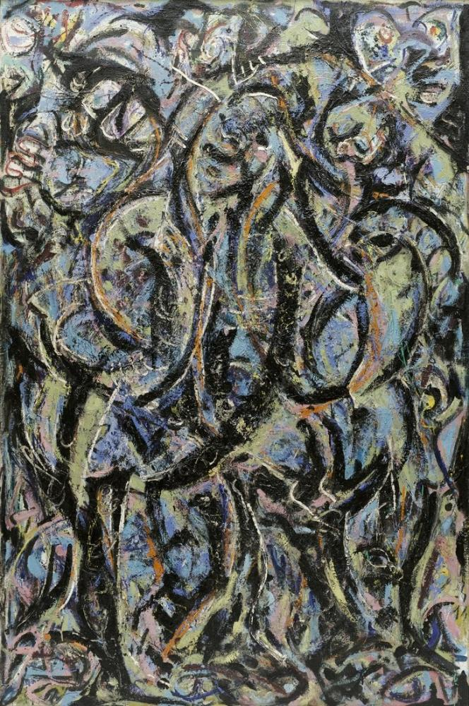 Jackson Pollock Magic Mirror, Canvas, Jackson Pollock, kanvas tablo, canvas print sales