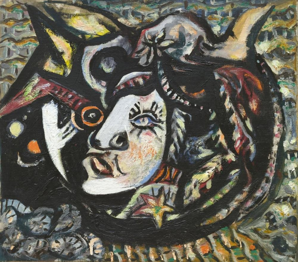 Jackson Pollock Mask 1941, Canvas, Jackson Pollock, kanvas tablo, canvas print sales