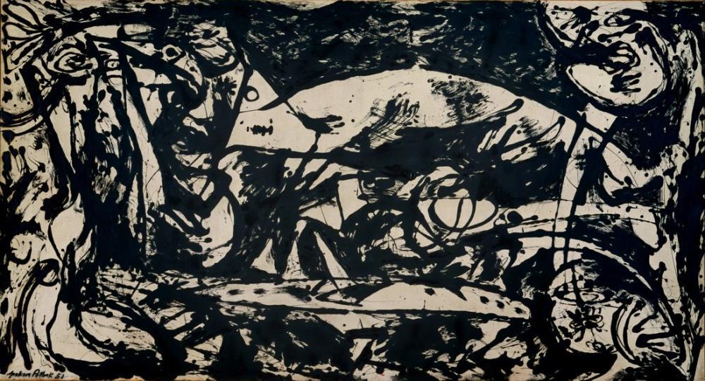 Jackson Pollock Numara 14, Kanvas Tablo, Jackson Pollock, kanvas tablo, canvas print sales