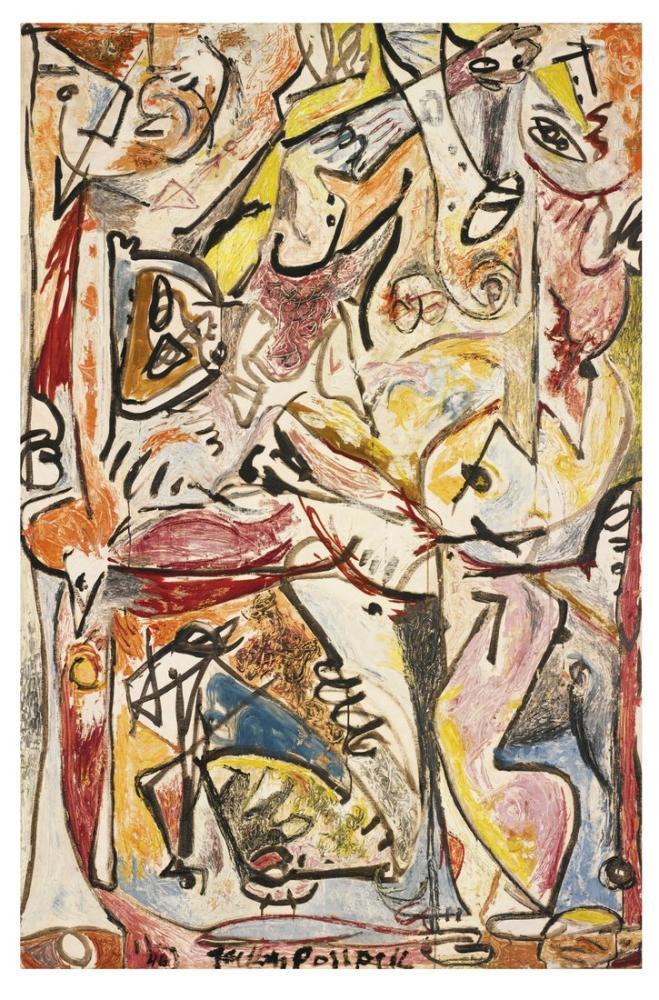 Jackson Pollock Mavi Bilinçsiz, Kanvas Tablo, Jackson Pollock, kanvas tablo, canvas print sales