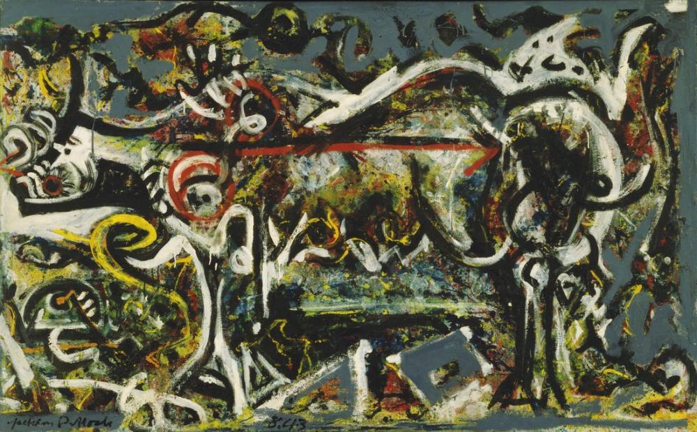 Jackson Pollock Dişi Kurt, Kanvas Tablo, Jackson Pollock, kanvas tablo, canvas print sales