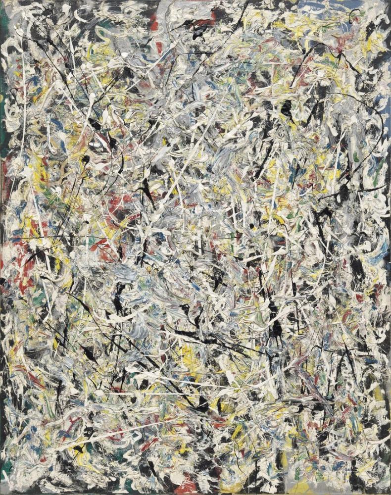 Jackson Pollock Beyaz Işık, Kanvas Tablo, Jackson Pollock, kanvas tablo, canvas print sales