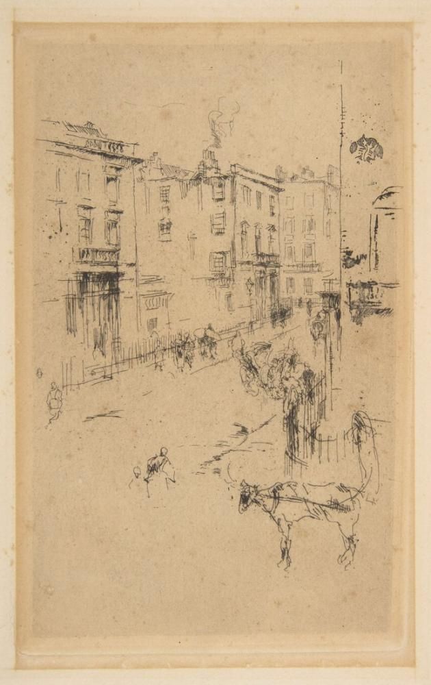 James Abbott McNeill Whistler, Alderney Street, Figure, James Abbott McNeill Whistler, kanvas tablo, canvas print sales