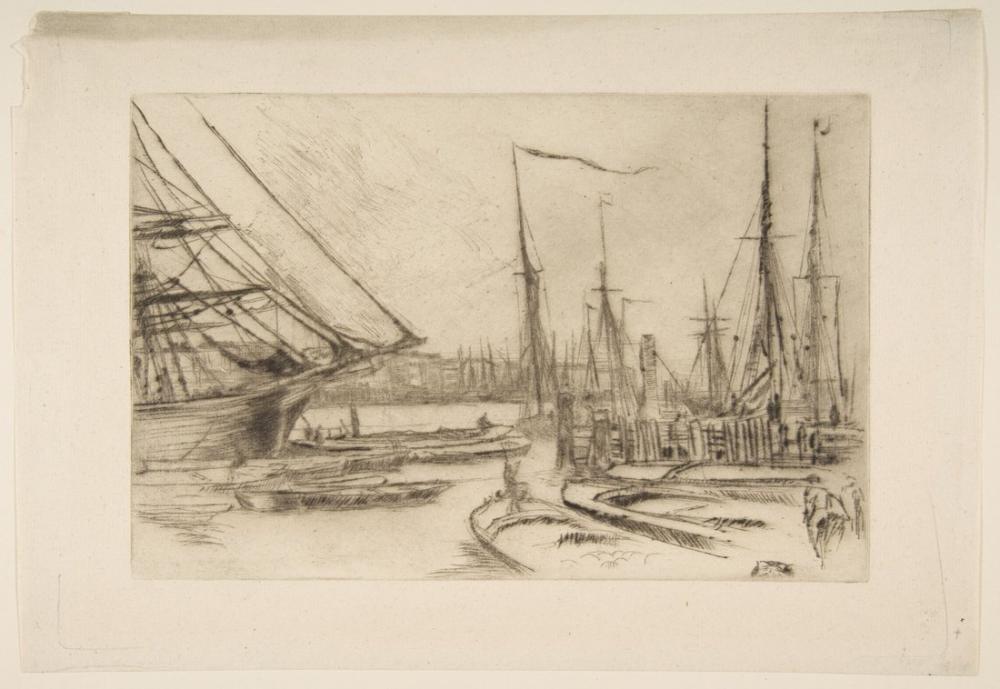 James Abbott McNeill Whistler, Billingsgate den Bir Kroki, Figür, James Abbott McNeill Whistler, kanvas tablo, canvas print sales