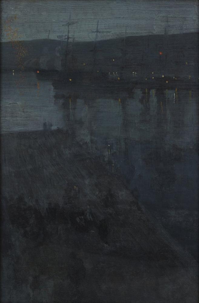 James Abbott McNeill Whistler, Nocturne in Blue and Gold Valparaiso Bay, Canvas, James Abbott McNeill Whistler, kanvas tablo, canvas print sales