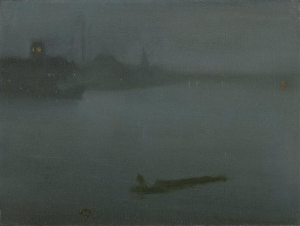 James Abbott McNeill Whistler, Nocturne in Blue and Silver, Canvas, James Abbott McNeill Whistler, kanvas tablo, canvas print sales
