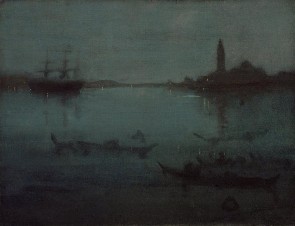 James Abbott McNeill Whistler, Nocturne in Blue and Silver the Lagoon Venice, Canvas, James Abbott McNeill Whistler, kanvas tablo, canvas print sales