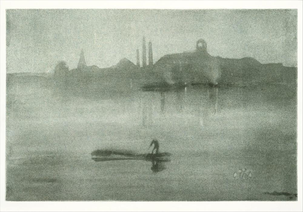 James Abbott McNeill Whistler, Battersea daki Thames Gece Manzarası, Kanvas Tablo, James Abbott McNeill Whistler, kanvas tablo, canvas print sales