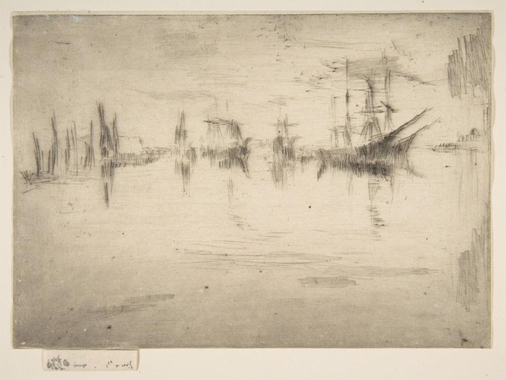 James Abbott McNeill Whistler, Nakliye Gece Manzarası, Kanvas Tablo, James Abbott McNeill Whistler, kanvas tablo, canvas print sales
