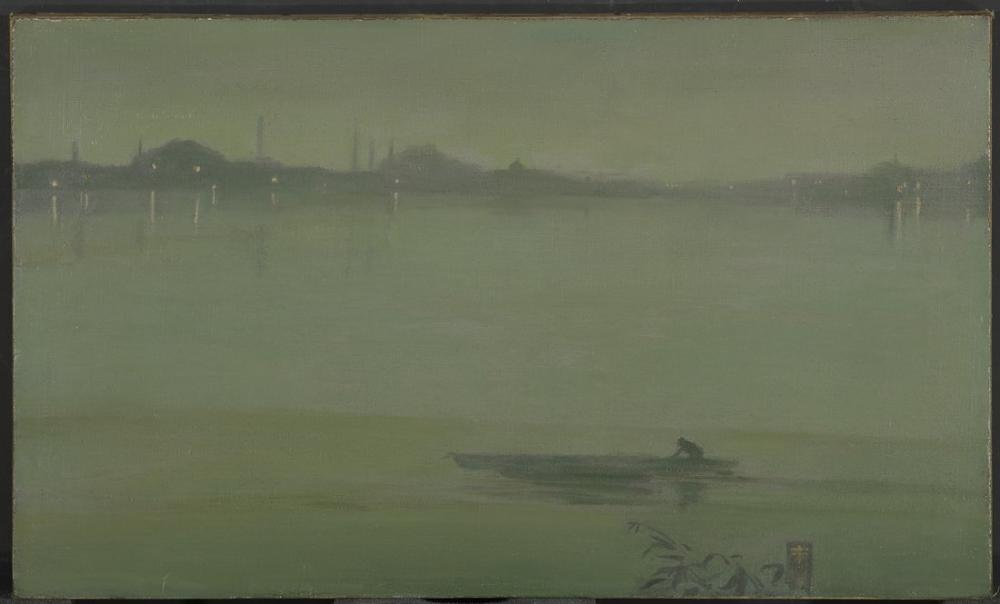 James Abbott McNeill Whistler, Thames Gece Manzarası, Kanvas Tablo, James Abbott McNeill Whistler, kanvas tablo, canvas print sales
