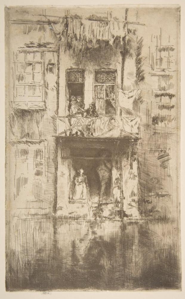 James Abbott McNeill Whistler, Balcony Amsterdam, Figure, James Abbott McNeill Whistler, kanvas tablo, canvas print sales
