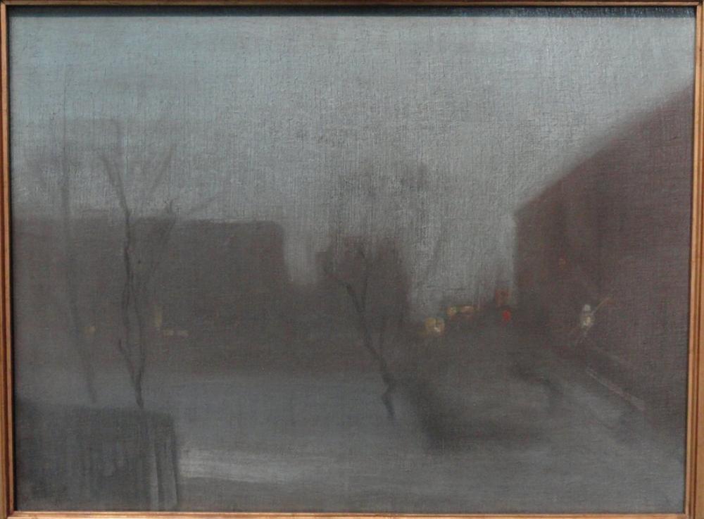 James Abbott McNeill Whistler, Gece Manzarası  Trafalgar Meydanı Chelsea Kar, Kanvas Tablo, James Abbott McNeill Whistler, kanvas tablo, canvas print sales