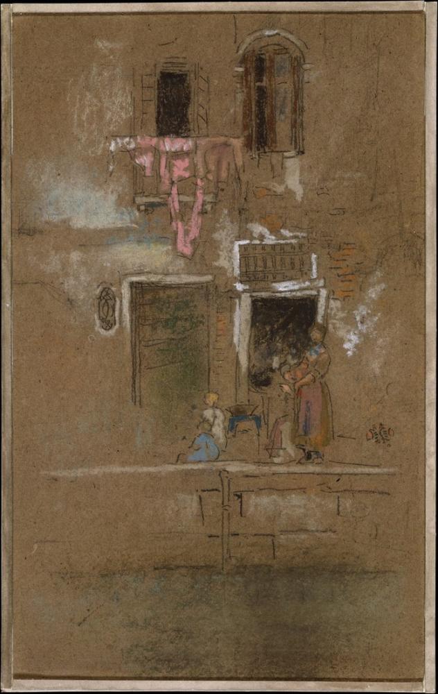James Abbott McNeill Whistler, Pembe ve Kahverengi Not, Figür, James Abbott McNeill Whistler, kanvas tablo, canvas print sales