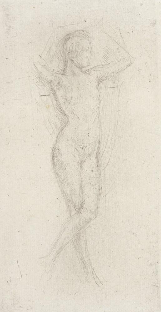 James Abbott McNeill Whistler, Çıplak Kız Kollarını Kaldırdı, Figür, James Abbott McNeill Whistler, kanvas tablo, canvas print sales