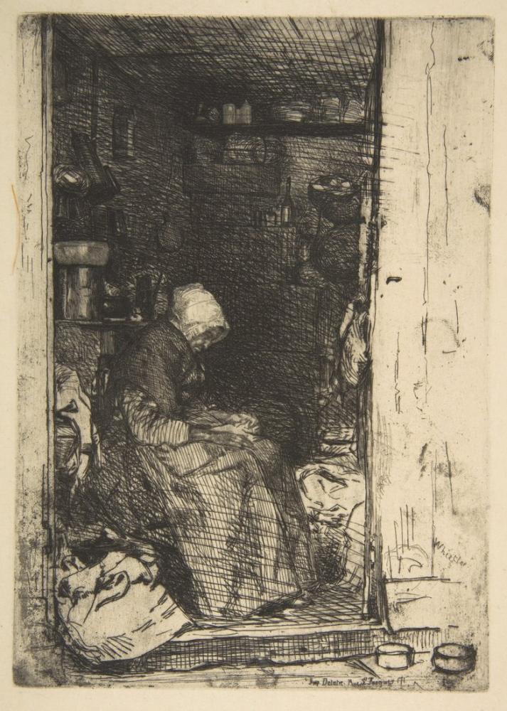 James Abbott McNeill Whistler, Old Woman Portrait, Canvas, James Abbott McNeill Whistler, kanvas tablo, canvas print sales