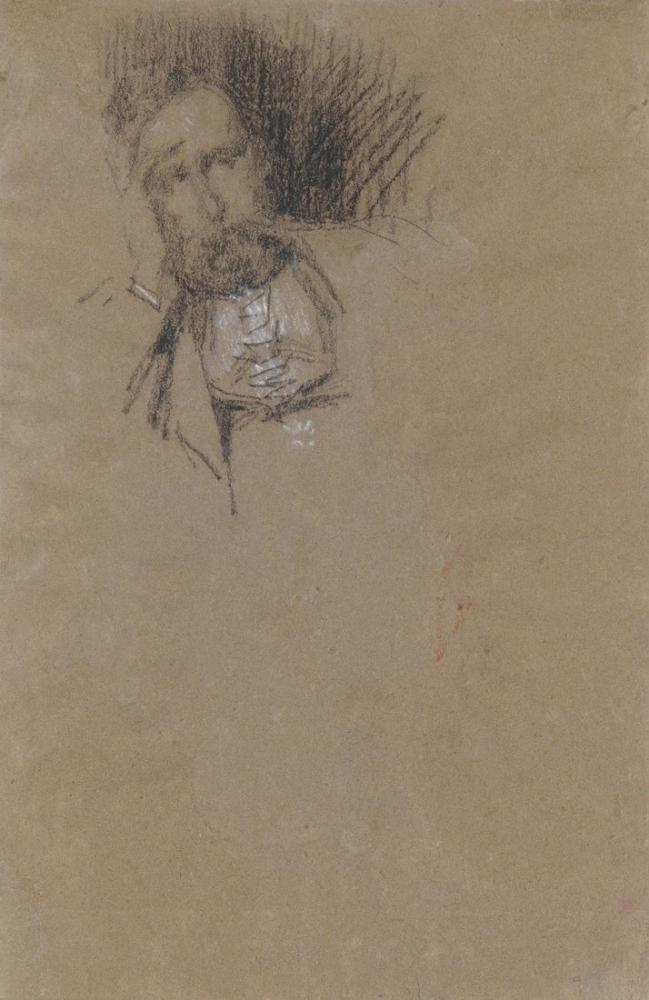 James Abbott McNeill Whistler, Frederick R. Leyland ın Portresi, Kanvas Tablo, James Abbott McNeill Whistler, kanvas tablo, canvas print sales
