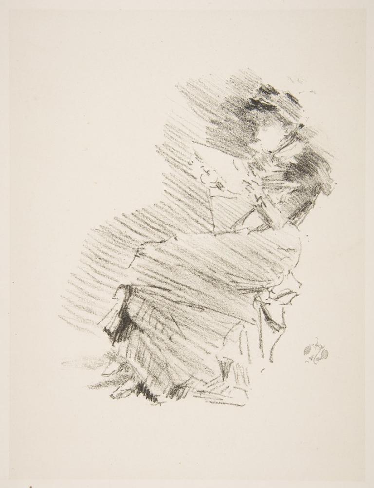 James Abbott McNeill Whistler, Reading, Figure, James Abbott McNeill Whistler, kanvas tablo, canvas print sales