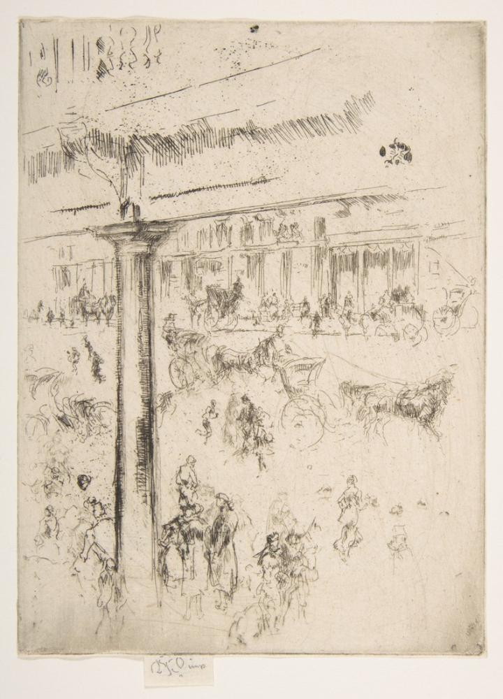 James Abbott McNeill Whistler, Regent s Quadrant, Figure, James Abbott McNeill Whistler, kanvas tablo, canvas print sales