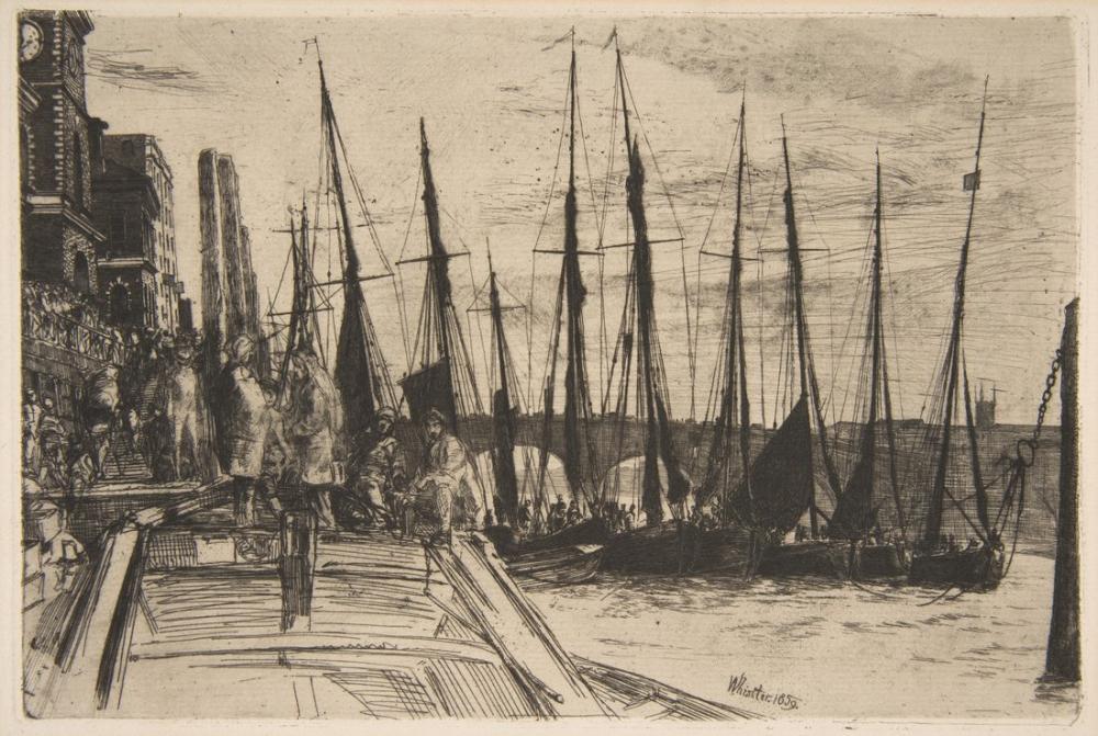 James Abbott McNeill Whistler, Billingsgate, Canvas, James Abbott McNeill Whistler, kanvas tablo, canvas print sales