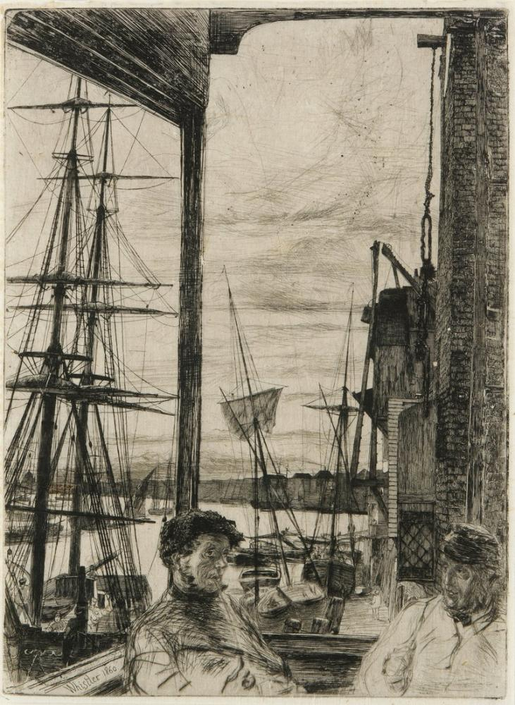 James Abbott McNeill Whistler, Rotherhithe, Kanvas Tablo, James Abbott McNeill Whistler, kanvas tablo, canvas print sales
