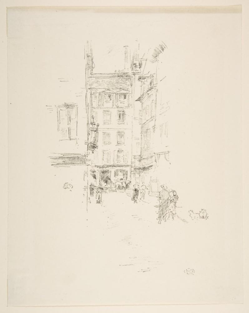 James Abbott McNeill Whistler, Rue Furstenberg, Figure, James Abbott McNeill Whistler, kanvas tablo, canvas print sales