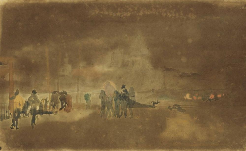 James Abbott McNeill Whistler, Santa Maria della Salute Venice, Figure, James Abbott McNeill Whistler, kanvas tablo, canvas print sales