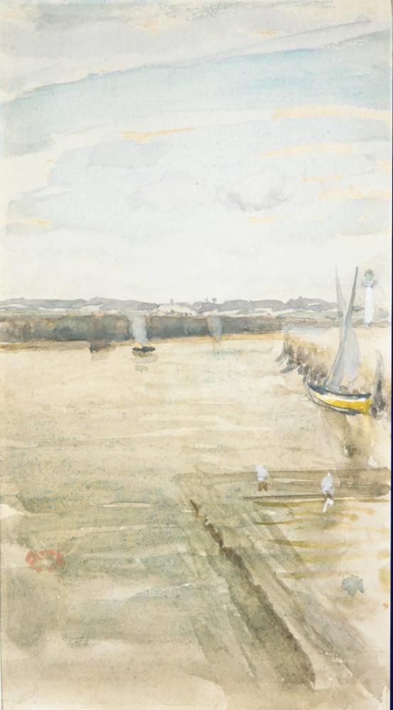 James Abbott McNeill Whistler, Scene on the Mersey, Canvas, James Abbott McNeill Whistler, kanvas tablo, canvas print sales