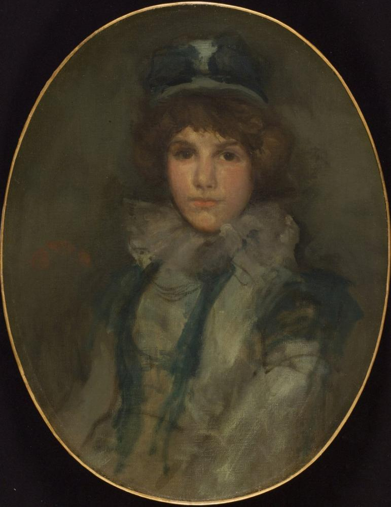 James Abbott McNeill Whistler, Mavi ve Mercan Küçük Mavi Şapkası, Kanvas Tablo, James Abbott McNeill Whistler, kanvas tablo, canvas print sales