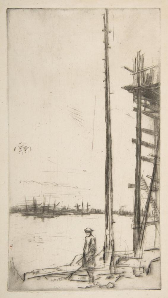 James Abbott McNeill Whistler, Shipbuilder s Yard Liverpool, Figure, James Abbott McNeill Whistler, kanvas tablo, canvas print sales