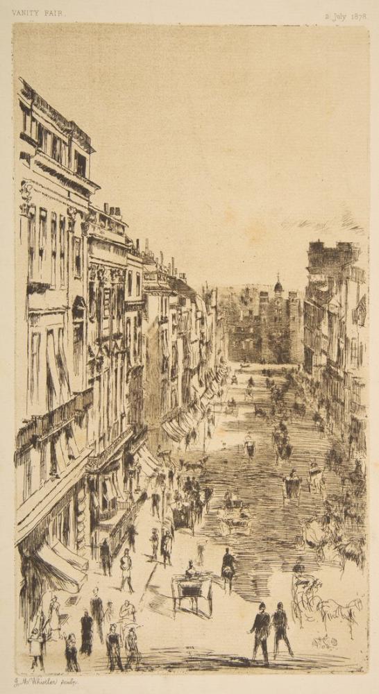 James Abbott McNeill Whistler, St.James Caddesi, Figür, James Abbott McNeill Whistler, kanvas tablo, canvas print sales