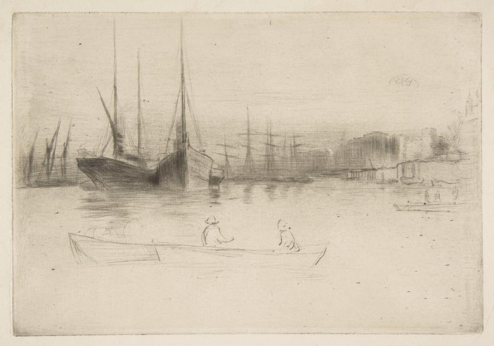 James Abbott McNeill Whistler, Steamboats of the Tower, Canvas, James Abbott McNeill Whistler, kanvas tablo, canvas print sales