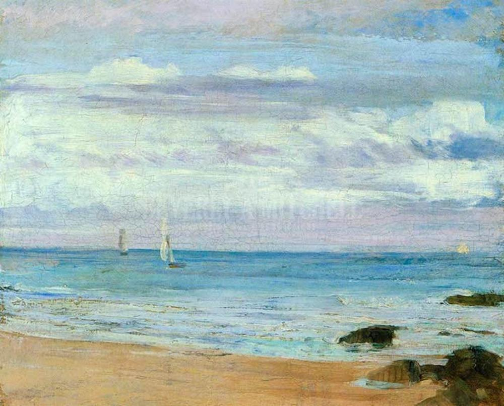 James Abbott McNeill Whistler, Mavi ve Gümüş Trouville, Kanvas Tablo, James Abbott McNeill Whistler, kanvas tablo, canvas print sales