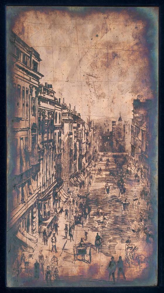 James Abbott McNeill Whistler, St. James Street, Figure, James Abbott McNeill Whistler, kanvas tablo, canvas print sales