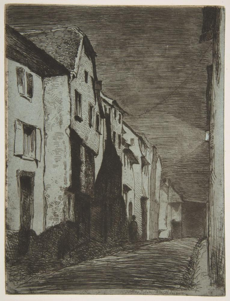 James Abbott McNeill Whistler, Street at Saverne, Canvas, James Abbott McNeill Whistler, kanvas tablo, canvas print sales