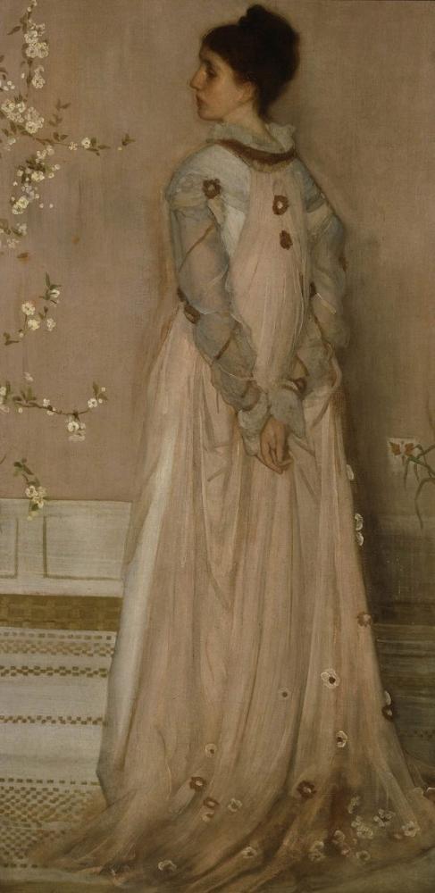 James Abbott McNeill Whistler, Symphony in Flesh Color and Pink, Canvas, James Abbott McNeill Whistler, kanvas tablo, canvas print sales
