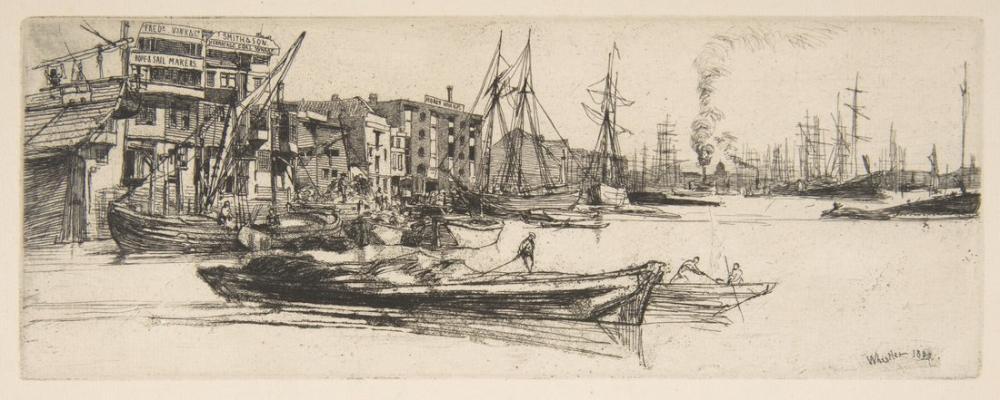 James Abbott McNeill Whistler, Thames Warehouses, Canvas, James Abbott McNeill Whistler, kanvas tablo, canvas print sales