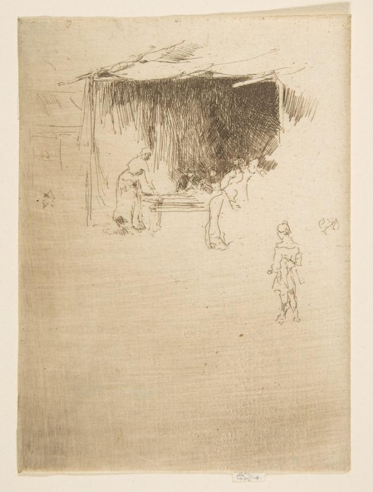 James Abbott McNeill Whistler, Booth at a Fair, Figure, James Abbott McNeill Whistler, kanvas tablo, canvas print sales