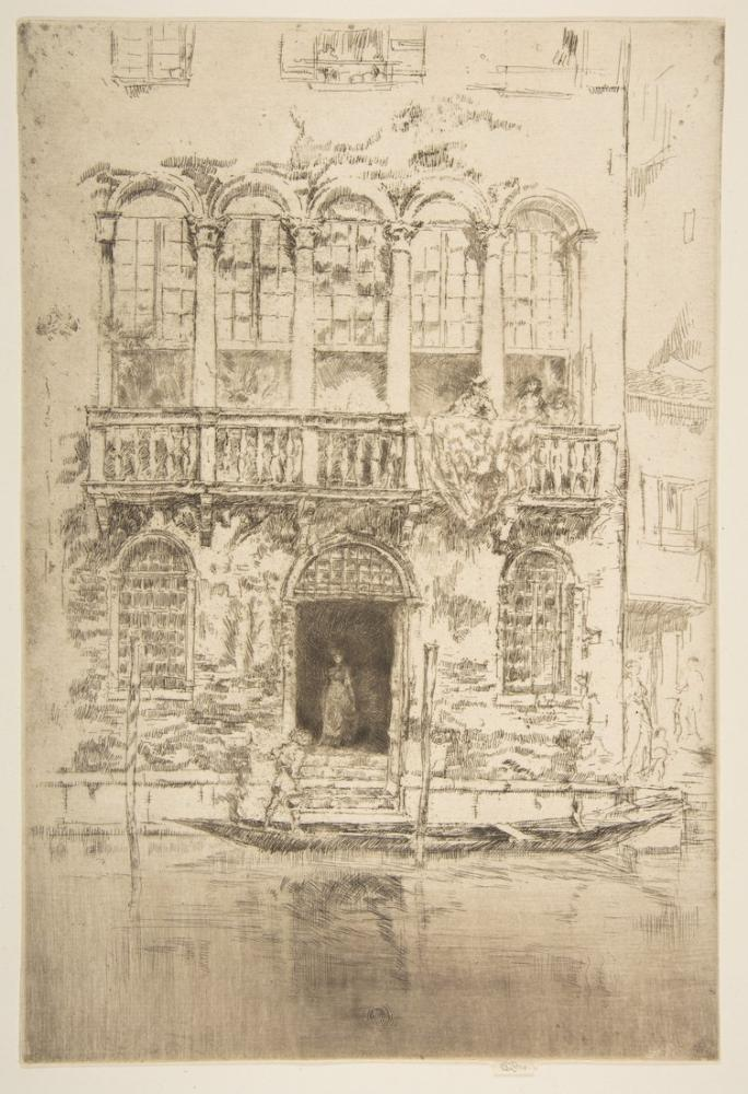 James Abbott McNeill Whistler, Balkon, Kanvas Tablo, James Abbott McNeill Whistler, kanvas tablo, canvas print sales