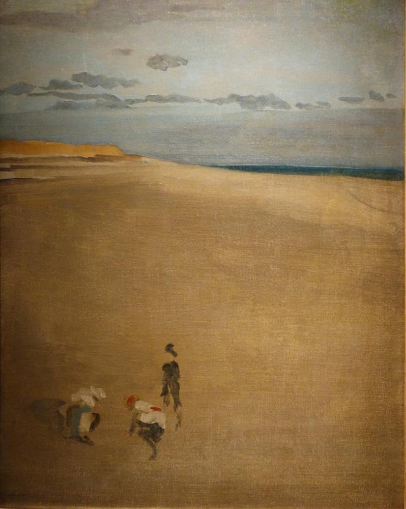 James Abbott McNeill Whistler, The Beach at Selsey Bill, Figure, James Abbott McNeill Whistler, kanvas tablo, canvas print sales