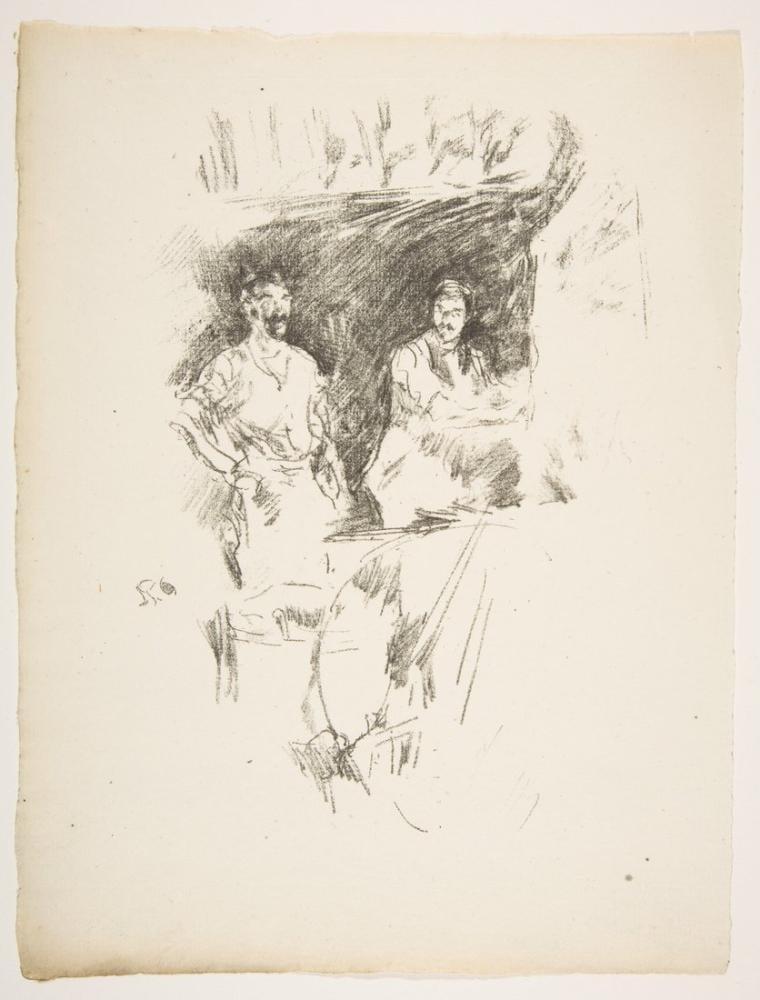 James Abbott McNeill Whistler, Kardeşler, Figür, James Abbott McNeill Whistler, kanvas tablo, canvas print sales