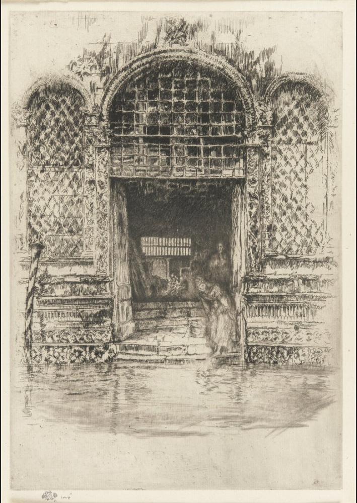 James Abbott McNeill Whistler, The Doorway, Figure, James Abbott McNeill Whistler, kanvas tablo, canvas print sales